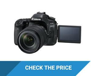 Canon EOS 80D Camera with Flip Screen