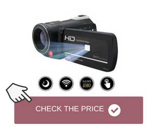 Night Vision Camcorder Equipped with Infrared LED Lights