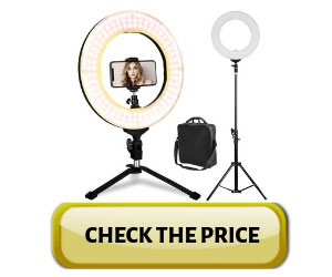 LED Ring Light - 14Inch 3200K/5600K Bicolor Dimmable Lighting Kit Review