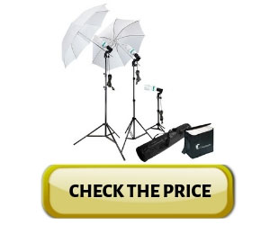 Photography Photo Portrait Studio 600W Day Light Umbrella Continuous Lighting Kit Review