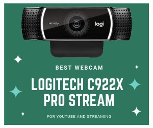Logitech C922x Best Webcam for YouTube and Twitch