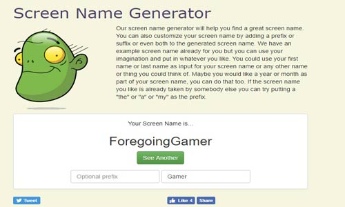Screen Name Generator Review
