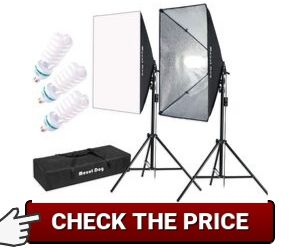 MOUNTDOG 1350W Softbox Lighting Kit
