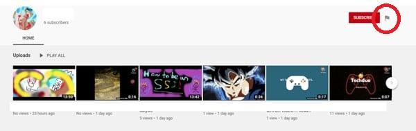 Flag icon on YouTube