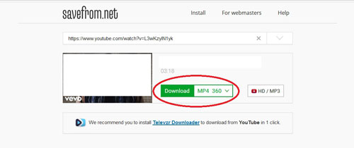 SS Method Download YouTube Videos