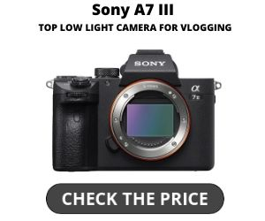 Top Low Light Camera for Vlogging Sony A7III