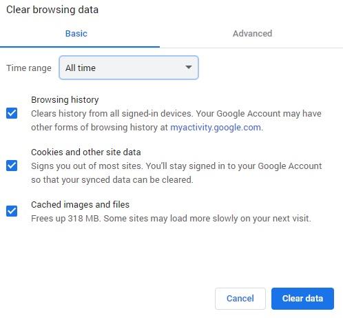How To Delete Chrome Cache